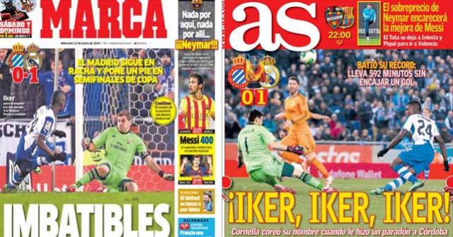 Madrid press report 22.1.14