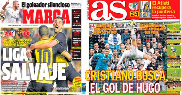 Real Madrid press report 27-01-2014