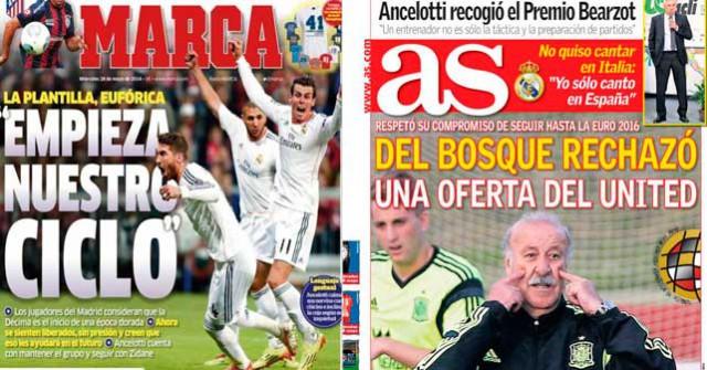 Madrid press report 28-05-2014