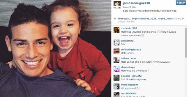 James Rodriguez Instagram picture
