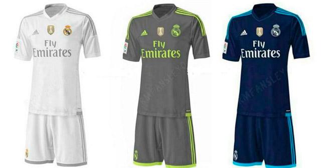 New Real Madrid kits for 2015-2016 season leaked