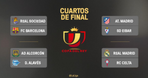 Copa del Rey Quarter Finals Draw