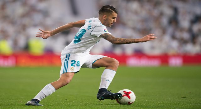 MADRID, SPAIN - NOVEMBER 28: Daniel Ceballos of Real Madrid CF in action during the Copa del Rey, Round of 32, Second Leg match between Real Madrid and Fuenlabrada at Estadio Santiago Bernabeu on November 28, 2017 in Madrid, Spain. (Photo by Denis Doyle/Getty Images)