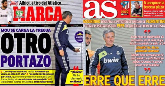 Marca As front pages