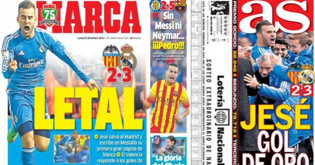 Real Madrid press report 23-12-13