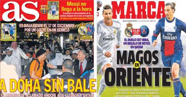 Madrid press report 2-1-14
