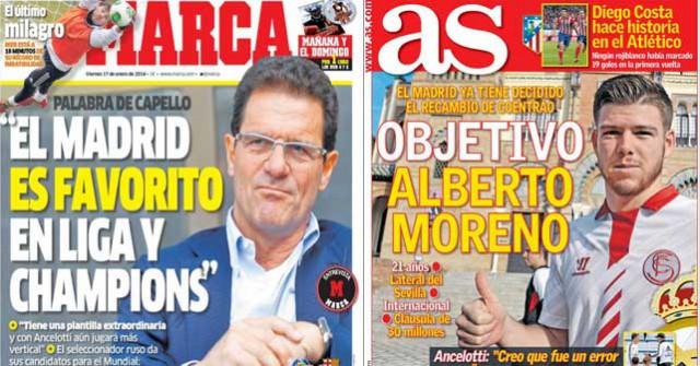 Real Madrid press report 17.1.14