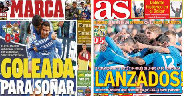 Real Madrid press report 19.1.14