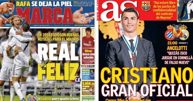 Real Madrid press report 21-1-2014