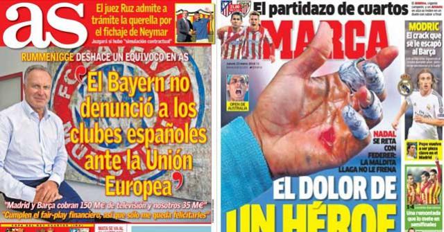 Madrid press report 23-01-2014