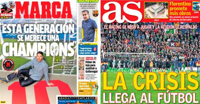 Real Madrid press report 31-1-14