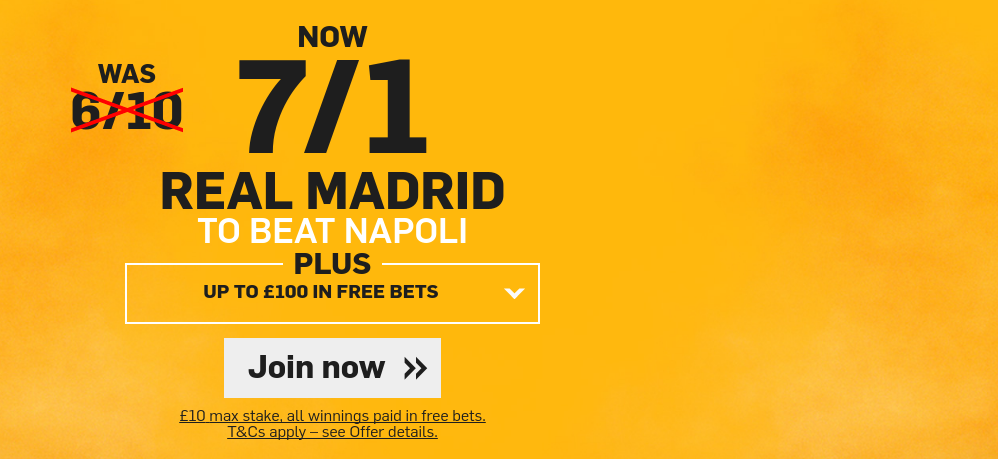 Real Madrid to beat Napoli